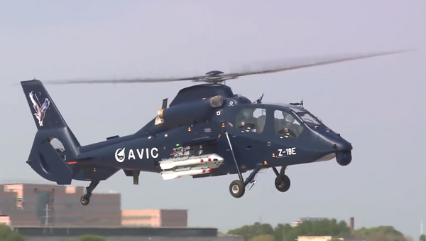 China's Z-19E multirole reconnaissance/attack helicopter makes its maiden flight in May, 2017. - Sputnik International