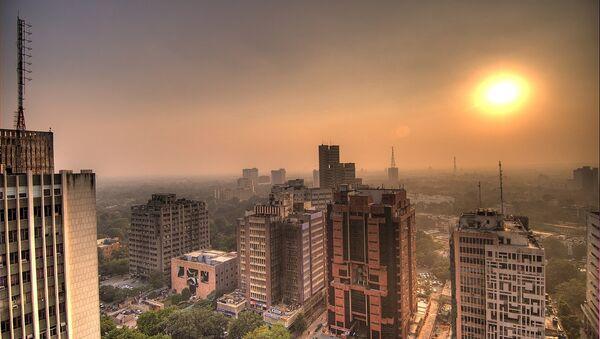 Sun setting at Connaught Place in Delhi - Sputnik International