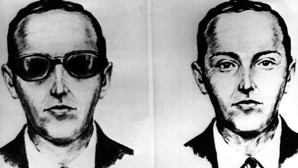 FILE--This undated artist' sketch shows the skyjacker known as D.B. Cooper from recollections of the passengers and crew of a Northwest Airlines jet he hijacked between Portland and Seattle on Thanksgiving eve in 1971 - Sputnik International