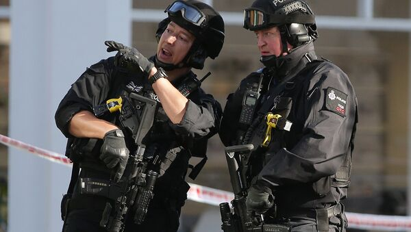 Armed British police officers (File) - Sputnik International