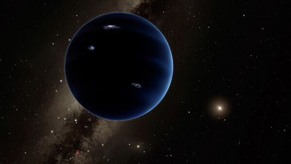 This is a distant view from Planet Nine back towards the sun. The object is thought to be gaseous, similar to Uranus and Neptune. - Sputnik International