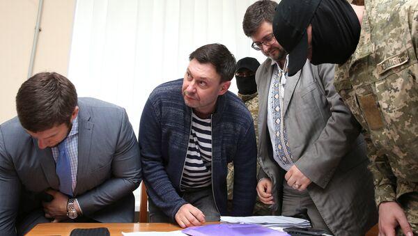 Journalist Kirill Vyshinsky, the director of Russian state news agency RIA Novosti Ukraine, attends a preliminary court hearing in Kherson, Ukraine May 17, 2018 - Sputnik International