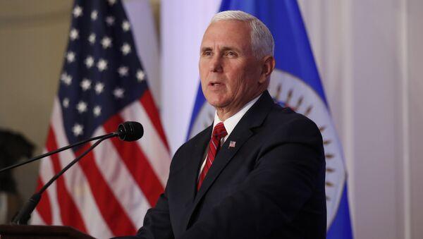 U.S. Vice President Mike Pence addresses the Organization of American States at the OAS headquarters in Washington, U.S. May 7, 2018 - Sputnik International