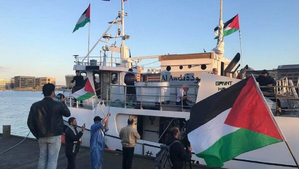 Al-Awda, one of four ships on its way to Gaza in support of the Great Return March, departs from Copenhagen, Denmark. - Sputnik International