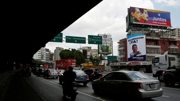 Election posters in the streets of Caracas, Venezuela - Sputnik International