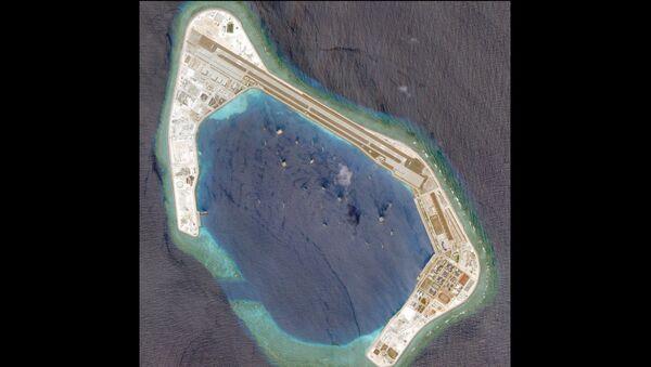 Satellite photo dated March 20, 2018 shows Subi Reef. - Sputnik International