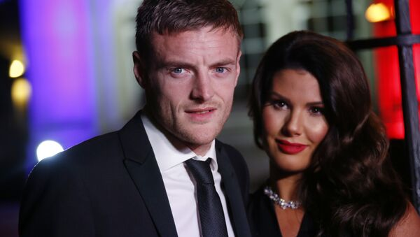 Jamie Vardy and Rebekah Vardy pose for photographers upon arrival at The Sun Military Awards 2016 in London, Wednesday, Dec. 14, 2016 - Sputnik International