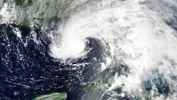 Subtropical Storm Alberto is pictured nearing the Florida Panhandle in this May 27, 2018 NASA handout photo - Sputnik International