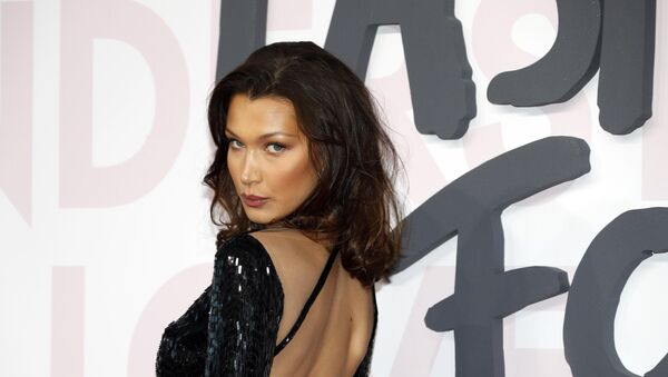 71st Cannes Film Festival - Charity fashion gala event Fashion For Relief - Arrivals - Cannes, France, May 13, 2018. Bella Hadid poses - Sputnik International
