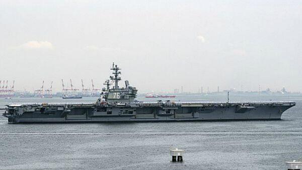 USS Ronald Reagan leaving Yokosuka, Japan on May 29, 2018. - Sputnik International