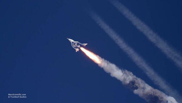 Richard Branson Welcomes VSS Unity Home from Second Supersonic Flight - Sputnik International