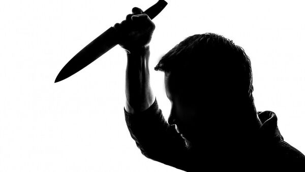 A silhouette of a man holding a knife - Sputnik International