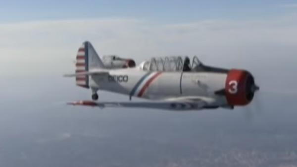 Geico Skytypers' WWII SNJ-2 plane - Sputnik International