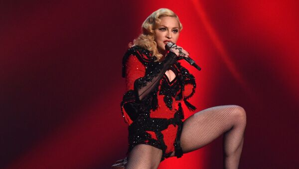 In this Feb. 8, 2015 file photo, Madonna performs at the 57th annual Grammy Awards in Los Angeles - Sputnik International