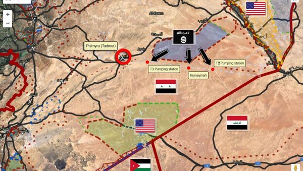 Map of the strategic situation in Syria - Sputnik International
