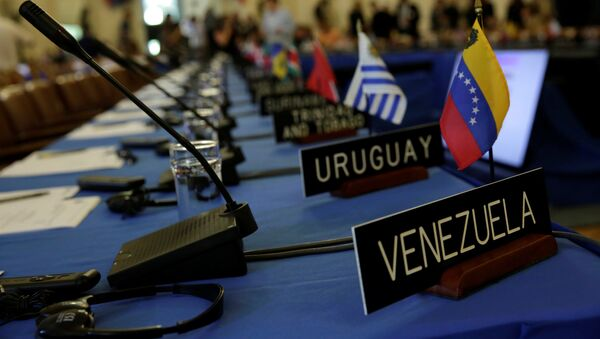 Delegates' seats are prepared for the Organization of American States' (OAS) - Sputnik International