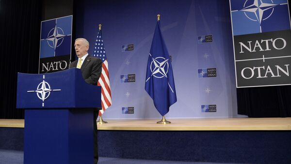 US Secretary of Defence James Mattis delivers a speech during a press conference following the NATO Defence Ministers' meeting at NATO headquarter in Brussels - Sputnik International