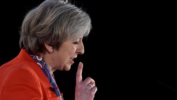 Britain's Prime Minister Theresa May speaks at the Conservative Party's Spring Forum in Cardiff, Wales, March 17, 2017. - Sputnik International