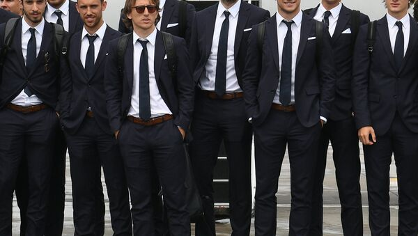 Croatia's footballers and coaching staff arrived in St. Petersburg - Sputnik International