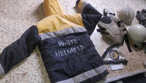 White Helmets uniform found during the search of terrorists' headquarters in Eastern Ghouta. - Sputnik International