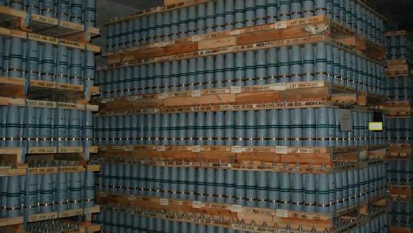 Mustard gas stored at the Pueblo Chemical Depot. - Sputnik International