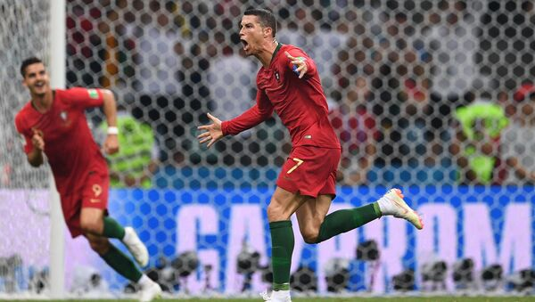 Ronaldo's spectacular play which earned his team a draw against Spain. - Sputnik International