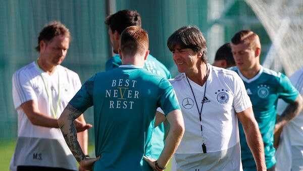 Soccer Football - World Cup - Germany Training Camp, Moscow, Russia - June 15, 2018 Germany coach Joachim Low during training - Sputnik International