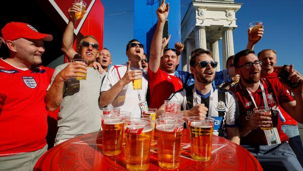 Soccer Football - FIFA World Cup - Group G - Tunisia v England - Volgograd, Russia - June 17, 2018 - England's fans gather at a Fan Fest zone - Sputnik International
