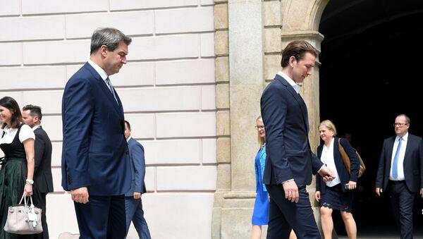 Bavaria's State Premier Markus Soeder (L) and Austrian Chancellor Sebastian Kurz - Sputnik International
