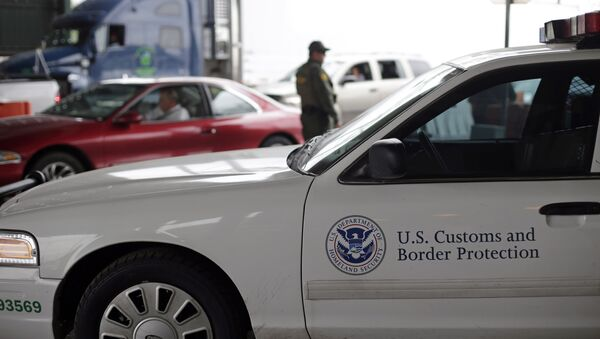 A US Customs and Border Patrol agent keeps watch at a checkpoint station. - Sputnik International