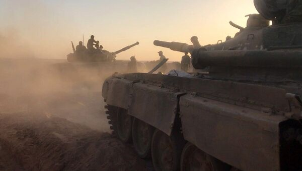 Tanks of the Syrian Army at combat positions. File photo - Sputnik International