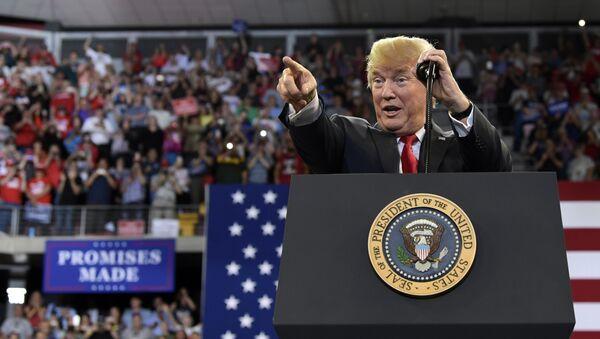 US-Präsident Donald Trump bei einer Kundgebung in der Stadt Duluth (US-Bundesstaat Minnesota) - Sputnik International