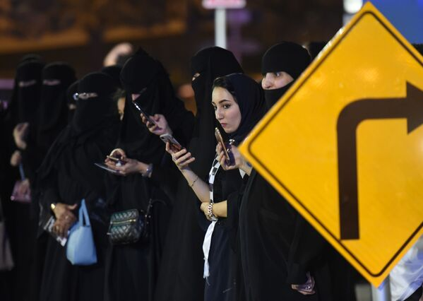 Saudi women during go-kart test drive in Riyadh - Sputnik International