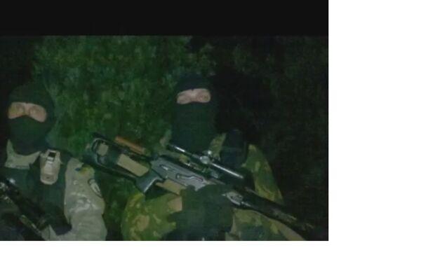 Preparations for the storming of Marinka, 2014. Azov snipers. - Sputnik International