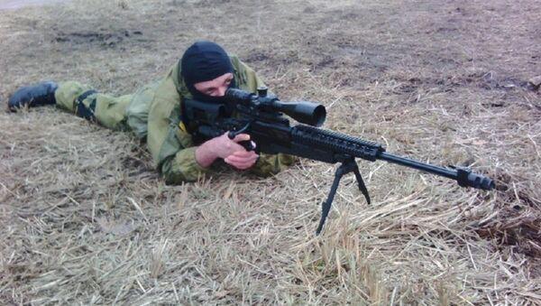 Sergei Sanovsky at the Azov training base outside Kiev. - Sputnik International