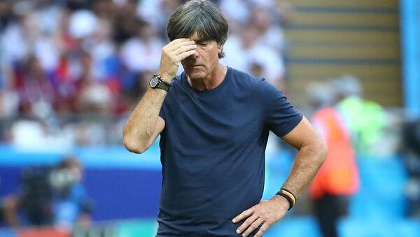Soccer Football - World Cup - Group F - South Korea vs Germany - Kazan Arena, Kazan, Russia - June 27, 2018 Germany coach Joachim Low looks dejected during the match - Sputnik International