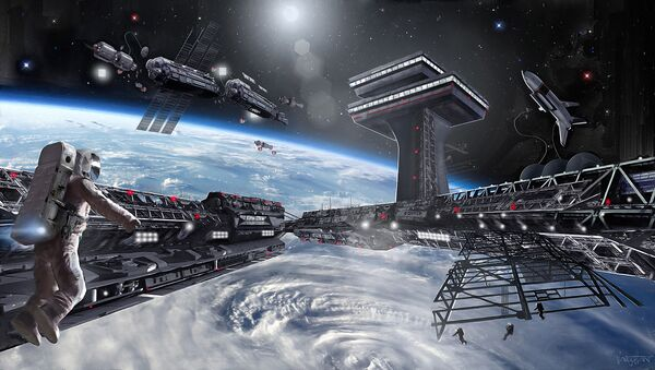 Concept of the first-ever space state of Asgardia - Sputnik International