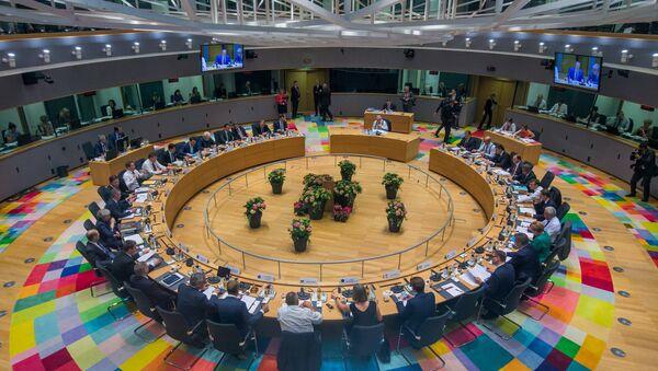 EU leaders take part in a European Union summit in Brussels, Belgium June 28, 2018. - Sputnik International