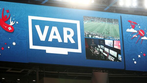 An incident is reviewed on VAR in World Cup match between Nigeria vs Argentina - Saint Petersburg Stadium, Russia - Sputnik International