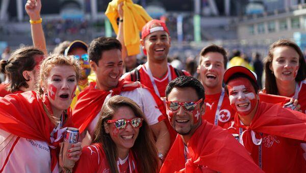 Fans before World Cup 2018 soccer match between Sweden national teams and Switzerland - Sputnik International
