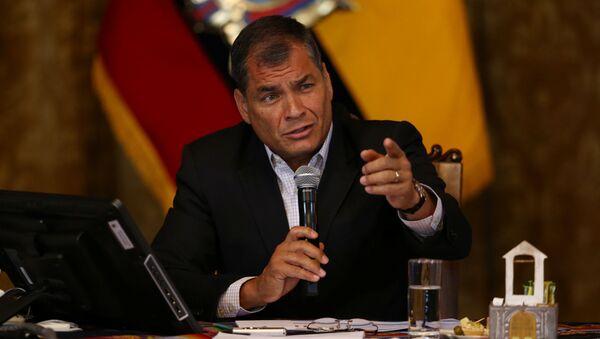 Ecuador's President Rafael Correa gives a a news conference in Quito, Ecuador - Sputnik International