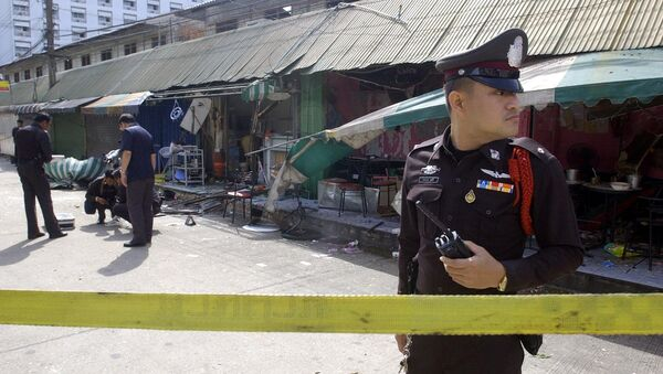 Thai police officer guards. (File) - Sputnik International