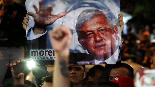 Partidarios de Andrés Manuel López Obrador - Sputnik International