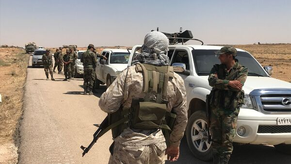 The Syrian Army in Daraa Province on the border with Jordan. File photo - Sputnik International