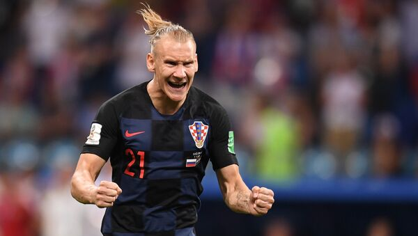 Croatian defender Domagoj Vida during the Russia vs Croatia match in Sochi on July 7 - Sputnik International
