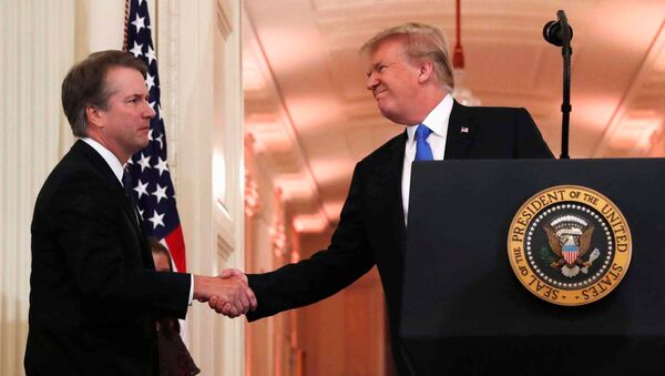 U.S. President Donald Trump introduces his Supreme Court nominee judge Brett Kavanaugh in the East Room of the White House in Washington - Sputnik International