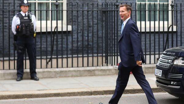 Britain's Secretary of State for Foreign and Commonwealth Affairs Jeremy Hunt arrives in Downing Street for this morning's cabinet meeting in Westminster, London, Britain, July 10, 2018 - Sputnik International