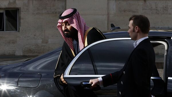 Saudi Arabia Crown Prince Mohammed bin Salman arrives for a meeting with French President Emmanuel Macron at the Elysee Palace in Paris, Tuesday, April 10, 2018. Macron meets with Prince Mohammed in Paris to bolster economic ties and strengthen cooperation on security and defense between the two countries - Sputnik International