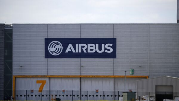 A hangar is seen at Airbus' wing assembly plant at Broughton, near Chester, Britain, June 22, 2018 - Sputnik International