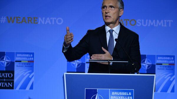 NATO Secretary-General Jens Stoltenberg is holding a press-conference. - Sputnik International